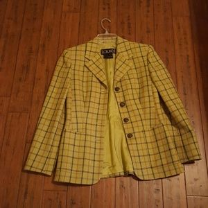 A lined wool jacket multi color like new